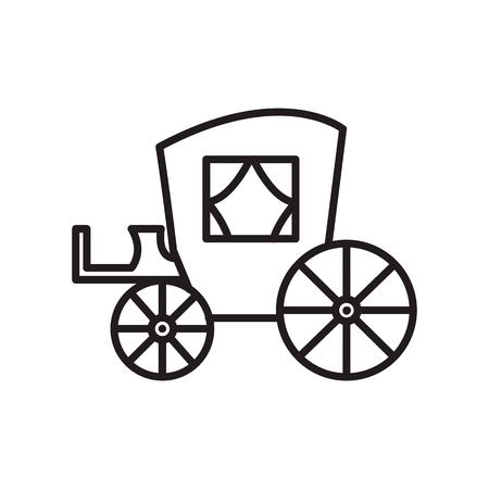 Vintage carriage line icon Illustration