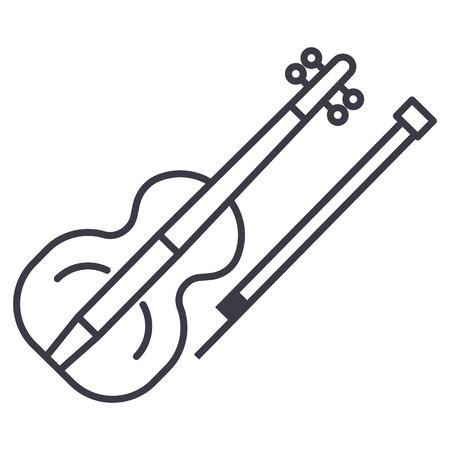 Violin line icon