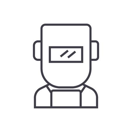 Welder line icon