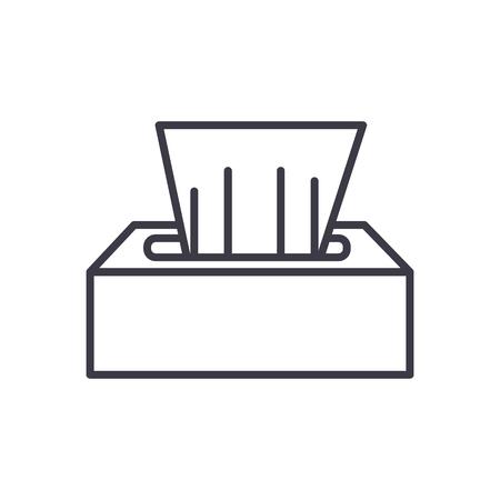 ウェットティッシュ線アイコン  イラスト・ベクター素材
