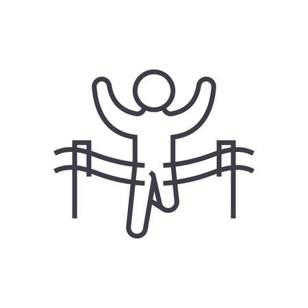 Winner line icon Illustration