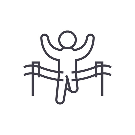 Winner line icon Ilustração