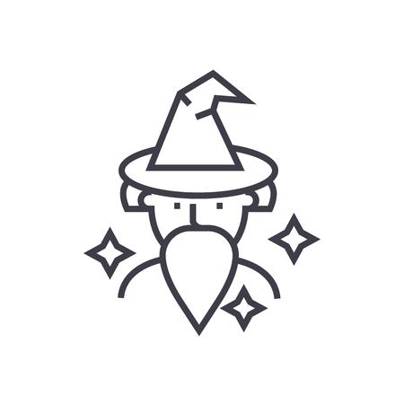 Wizard line icon