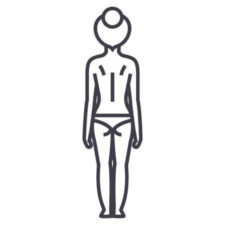 Frau Körperlinie Symbol Standard-Bild - 87221193