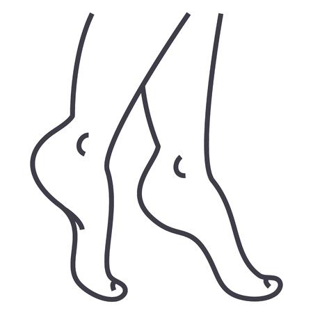 Woman legs line icon