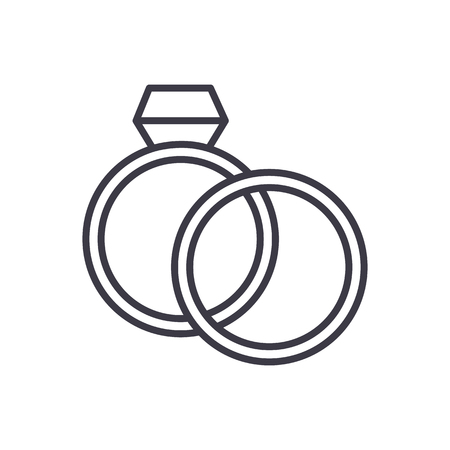 Wedding ring line icon 版權商用圖片 - 87221223