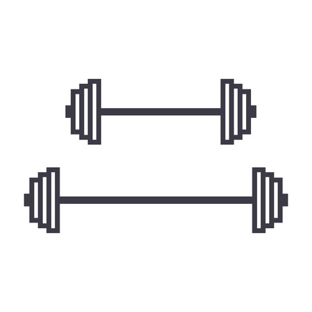 Weights line icon Illustration