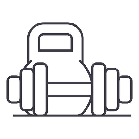 Weights line icon Illusztráció