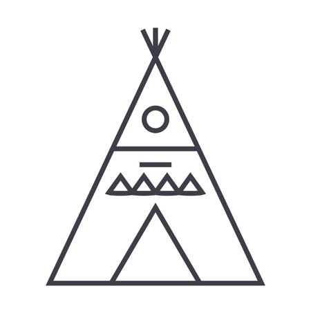 Wigwam line icon