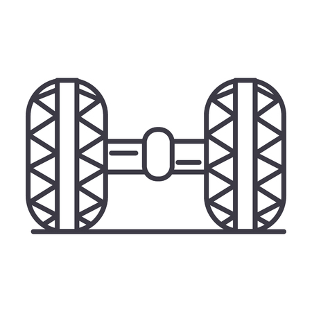 Wheel alignment line icon