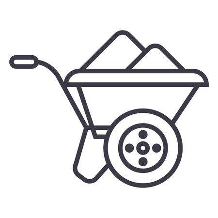 Wheelbarrow line icon