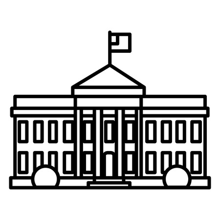 White house in USA line icon