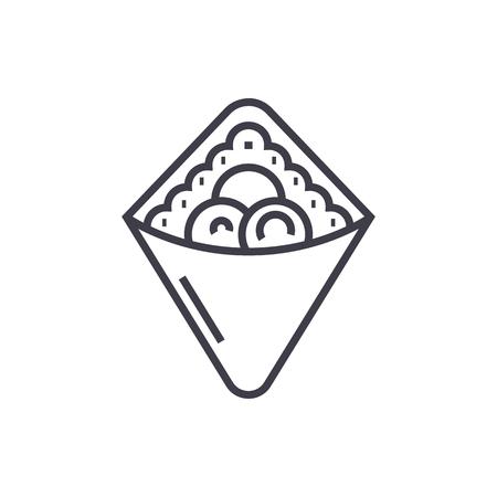Fastfood lijn pictogram Stock Illustratie