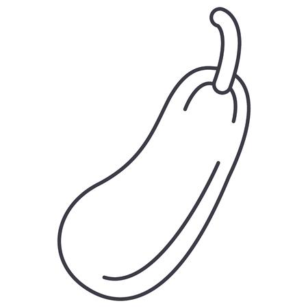 Zucchini line icon