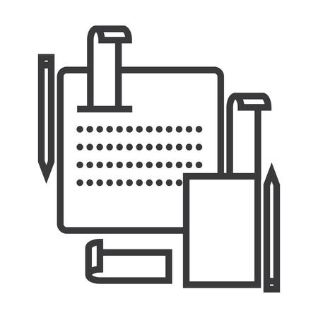 Icône de ligne vecteur système comptable, signe, illustration sur fond blanc, coups modifiables Banque d'images - 87221328