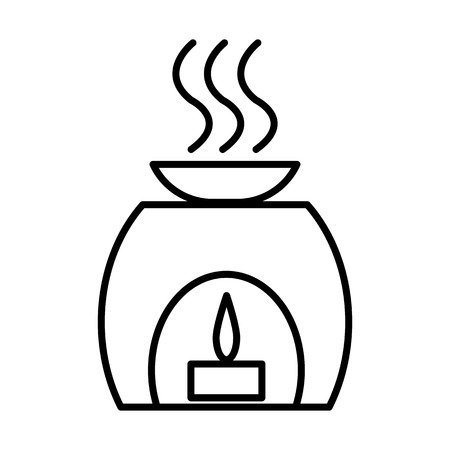 aromatherapy, spa, treatment vector line icon, sign, illustration on white background, editable strokes Illustration