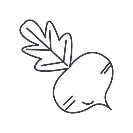 사탕 무광 벡터 줄 아이콘, 기호, 흰색 배경에 그림 편집 가능한 획