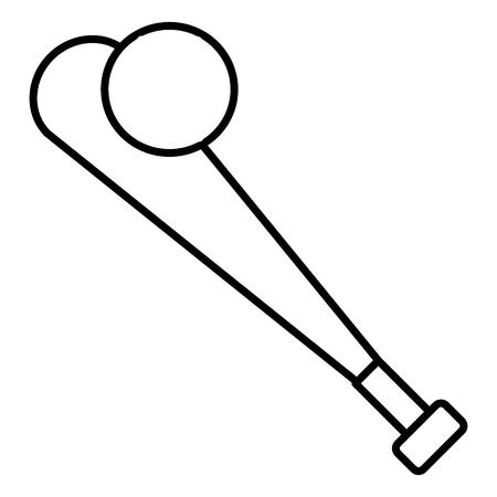 baseball equipment vector line icon, sign, illustration on white background, editable strokes Illustration