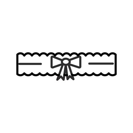 bruid Kousenband vector lijn pictogram, teken, illustratie op witte achtergrond, bewerkbare lijnen