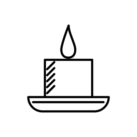 candle in spa vector line icon, sign, illustration on white background, editable strokes Illustration