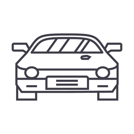 tire tracks: car race,racing vector line icon, sign, illustration on white background, editable strokes