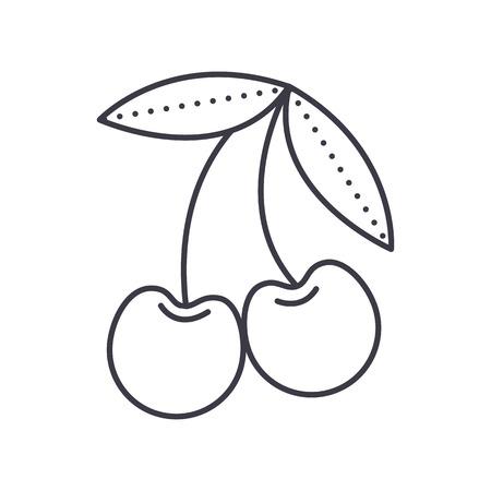 kers vector lijn pictogram, teken, illustratie op witte achtergrond, bewerkbare lijnen