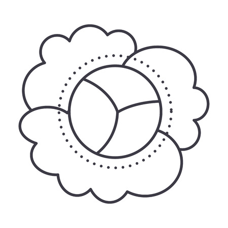 cauliflower vector line icon, sign, illustration on white background, editable strokes Illusztráció