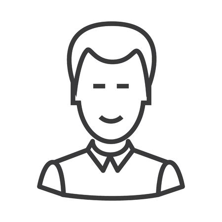 clerk vector line icon, sign, illustration on white background, editable strokes