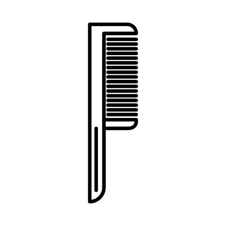 comb one vector line icon, sign, illustration on white background, editable strokes
