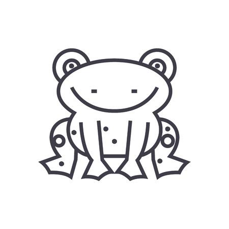 cute fog vector line icon, sign, illustration on white background, editable strokes