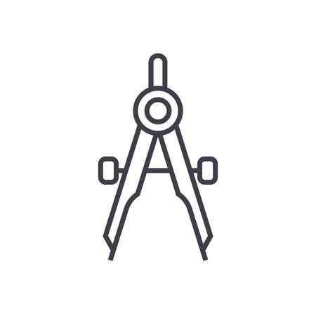 divider vector line icon, sign, illustration on white background, editable strokes Illustration