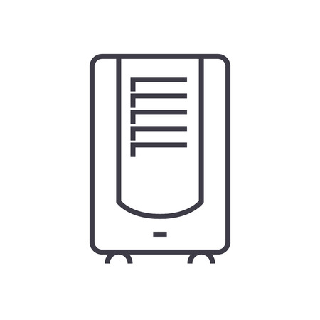 ontvochtiger vector lijn pictogram, teken, illustratie op witte achtergrond, bewerkbare lijnen