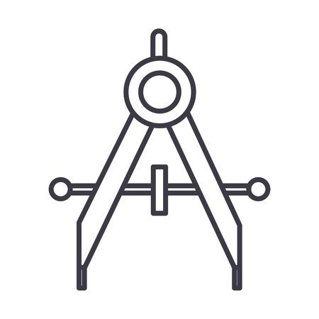 Icône de ligne de vecteur de séparateurs, signe, illustration sur fond blanc, coups modifiables Banque d'images - 87222048
