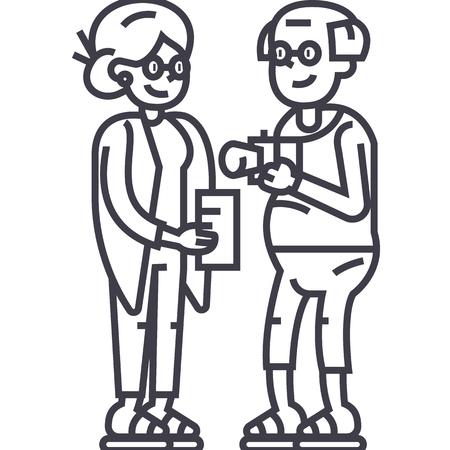 aubergine illustratie vector lijn pictogram, teken, illustratie op witte achtergrond, bewerkbare lijnen Stock Illustratie