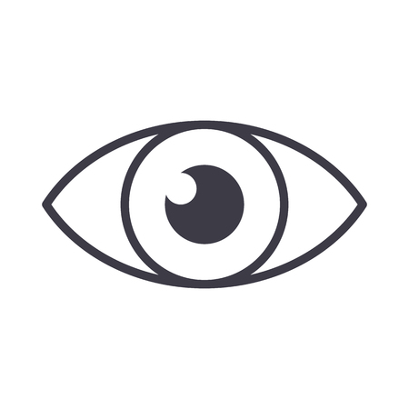 eye sign vector line icon, sign, illustration on white background, editable strokes