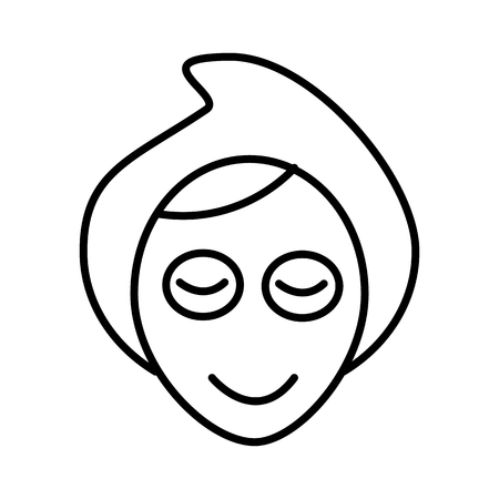 face, spa, mask vector line icon, sign, illustration on white background, editable strokes