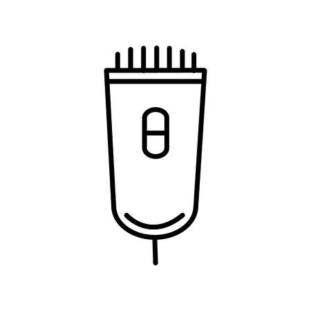 Icona di linea di vettore elettricista, segno, illustrazione su priorità bassa bianca, colpi modificabili Archivio Fotografico - 87222104