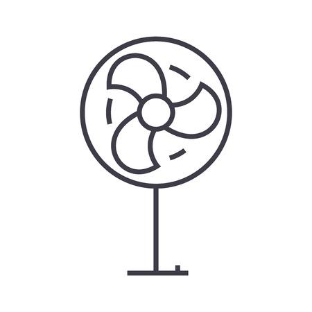 팬 벡터 라인 아이콘, 기호, 흰색 배경에 그림 편집 가능한 획