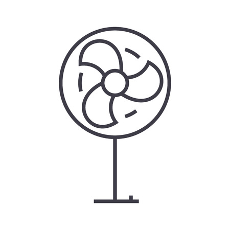 fan vector line icon, sign, illustration on white background, editable strokes