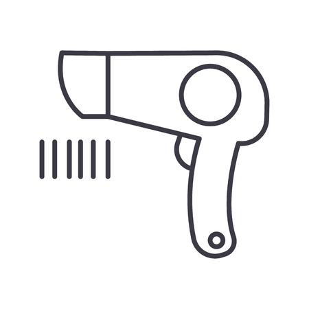 ファン サイン ベクトル線のアイコン, サイン, 白い背景に、編集可能なストロークの図
