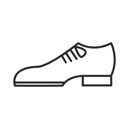 Bräutigam beschuht Vektorlinie Ikone, Zeichen, Illustration auf weißem Hintergrund. Standard-Bild - 87222327