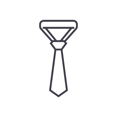 necktie,tie vector line icon, sign, illustration on white background, editable strokes