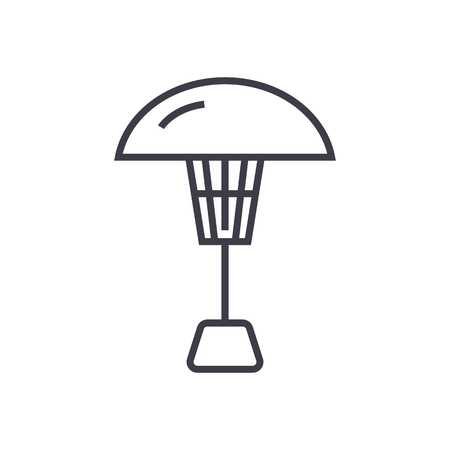 patio heater vector line icon, sign, illustration on white background, editable strokes 向量圖像