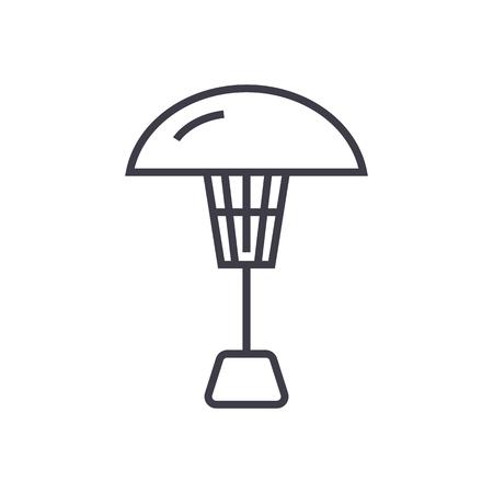 terraskachel vector lijn pictogram, teken, illustratie op witte achtergrond, bewerkbare lijnen