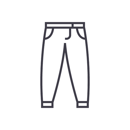 pants,trousers vector line icon, sign, illustration on white background, editable strokes