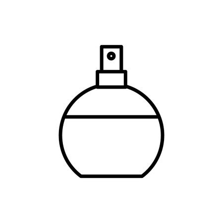 perfume vector line icon, sign, illustration on white background, editable strokes