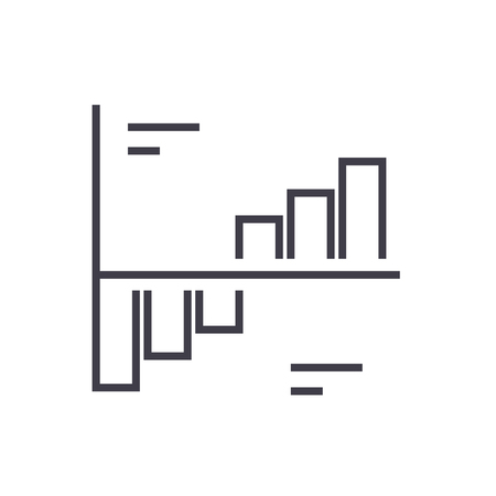 phase plots vector line icon, sign, illustration on white background, editable strokes