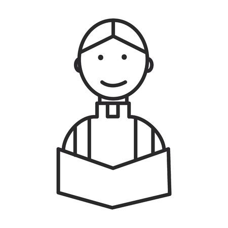 priester bij huwelijk in kerk vectorlijnpictogram, teken, illustratie op witte achtergrond, editable slagen Stock Illustratie