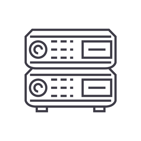 router vector line icon, sign, illustration on white background, editable strokes