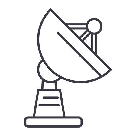 Icône de ligne vectorielle parabolique, signe, illustration sur fond blanc, traits modifiables Banque d'images - 87222748